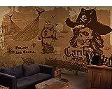Eufjsdhf Fototapete Piraten versenden nostalgisches Freizeitrestaurantcafé-Kinosofa 3D Tapete Foto-450cmX300cm