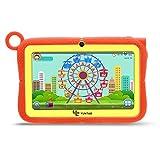 Yuntab Q88R Tablet para niños - Tablet Infantil de 7 Pulgadas Incluye Control Padres iWawa Software niños Pre-instalado ( Android 4.4 , Quad-Core, WiFi, Bluetooth, HD 1024x600, 8GB ROM, Tarjeta TF 32 GB, Doble Cámara, Google Play) (Color naranja)