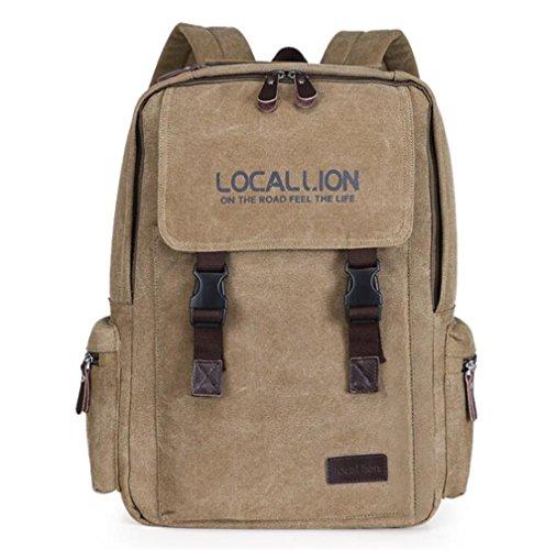 Wmshpeds Casual borsa di tela donna borsa a tracolla zaino sportivo borsa dello studente B