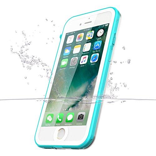 iPhone 7 Hülle Case, iThrough® Wasserdichtes Schutzhülle für iPhone 7 IP68, Wasserdichtes für iPhone 7, Staubdichte, Schneedichte, Stoßfeste, Schwerlaste Schutzhülle für iPhone 7, 4,7 Zoll mit Touch-I Blau