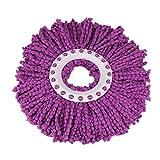 Rameng- Tête de Serpillère, Rotative à 360 Degrés Microfibre Magique pour Balai Serpillère Mop (Violet)