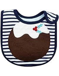 Scrox Toalla de Saliva Impermeable bebé Estilo de Navidad Babero Bufanda de Saliva para Bebé ninos Saliva Toalla Saliva Toalla Unisex para los Bebés y los Niños Pequeños (Azul Oscuro)