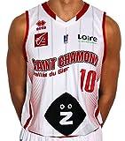 Errea St. Chamond Basket Réplica Domicile D8003S0021060 Maillot de Basketball Homme, Blanc/Rouge, FR : M (Taille Fabricant : M)