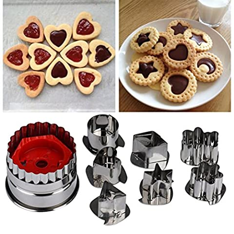 Cake Mold Fried Egg Nonstick Mix Shaped Biscuit Sugar Craft Foondant Cake Cutter Mould Mold Baking Tools Lanspo (A)