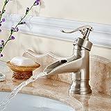 Thatch Rubinetti per lavandini bagno/Miscelatore Lavabo Filo di rame di europeo-stile disegno pozzi bagno rubinetto lavabo cascata di disegno
