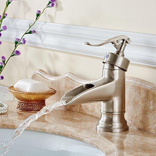 WYMBS Accessori per mobili creativo decorazione bagno Filo di rame di europeo-stile disegno pozzi bagno rubinetto lavabo cascata di