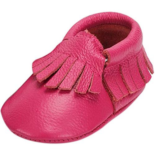 Fire Frog  Baby Genuine Leather Shoes, Baby Mädchen Lauflernschuhe Hot Pink
