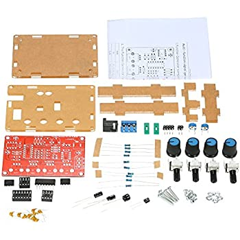 ICL8038 Function Signal Generator DIY Kit High Precision Square//Triangle//Sine Wave Output 3Hz-300kHz Adjustable Frequency Amplitude KKmoon FG8038