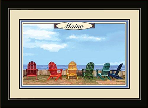 Northwest Art Mall jk-3136mfgdm ADC Maine Adirondack Stühle von Art Wand von Künstler Joanne Kollman, 13von 40,6cm