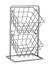 KitchenCraft - Cesti portaoggetti per cucina industriale, stile vintage, 25 x 22 x 41 cm, colore: Grigio