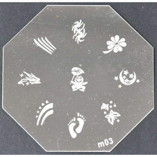 Nail Art emboutissage des tôles - M01 CODE : M03-plaque