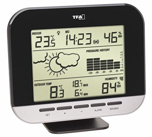 TFA Dostmann Connect Funk-Wetterstation, Wettervorhersage, Funkuhr, Innentemperatur, Luftfeuchtigkeit, Außentemperatur