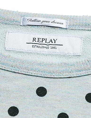 Replay W3870 .000.71292, Sweat-Shirt Femme Multicolore (Multicolour Mel/black Print)