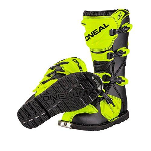O'Neal Rider Boot MX Stiefel Hi-Viz Neon Gelb Motocross Enduro Motorrad, 0329-5, Größe 43 - 4