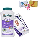 Himalaya Herbals Baby Powder (400g)+Himalaya Herbals Soothing Baby Wipes (12 Sheets) With Happy Baby Luxurious Kids Soap With Toy (100gm)