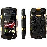 wasserdichte Smartphone 2,4 Zoll MINI Smartphone Android 4.3 MTK6572 2 SIM WIFI 3G Handy-gelb