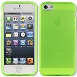 IMOOVE - Housse Coque Premium Transparente vert Ultra Fine pour iPhone 5 / 5s (semi rigide - chocs absorption)