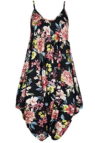 Fashion Star Damen Jumpsuit * (Plus Size Floral Romper)