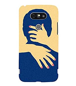 printtech Naughty Hands Face Back Case Cover for LG G5