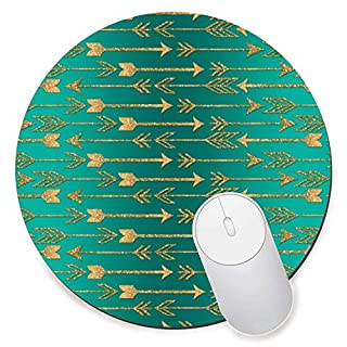 LOONY Mouse Mat Pad-Cute trendy faux gold glitter tribal arrows Gift PC Computer