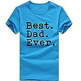 T-Shirts,Honestyi Männer Mode Einfarbig Brief Drucken T-Shirt Kurzarm hautfreundlicher Baumwolle T-Shirt Kleidung Hochwertigem Single Jersey Stoff Blusen Sweatshirt Oversize M-XXXL (XXL, Hellblau)