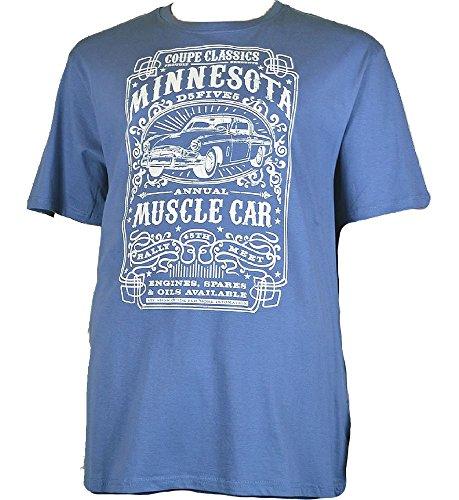 Duke Men's Minnesota Print T-shirt Blau - Blau