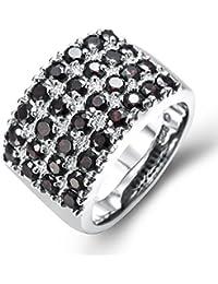 d8569baf02d0 hutang Jewelry – Pendientes de plata de ley 925 natural negro granate ...