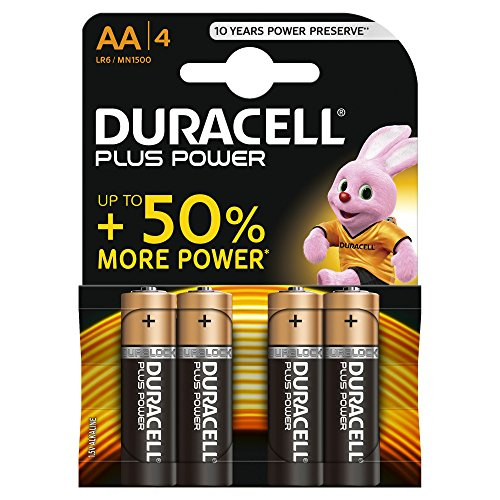 Duracell - Plus Power, Tipo AA lr6, 4 Batterie