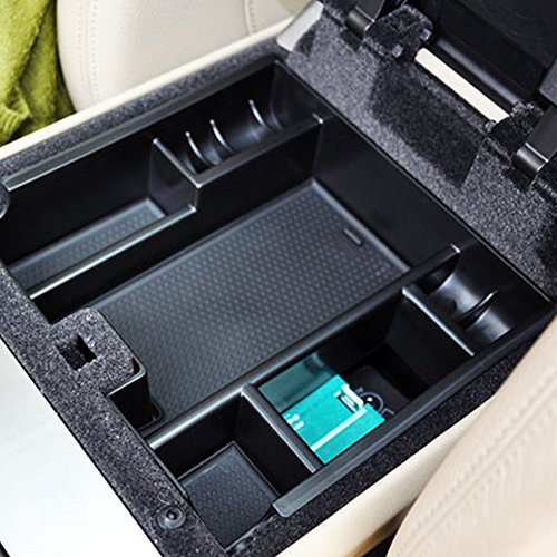 Car Central Armrest Container Holder Tray Storage Box Car Organizer Accessories fit Jaguar XF 2009-2015 car styling ABS Plastic