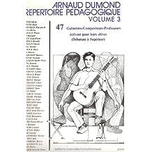 Dumond : répertoire pédagogique vol 3 - guitare