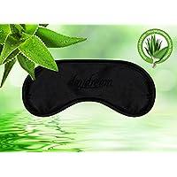 daydream Premium-Schlafmaske mit Aloe Vera-Rückseite und Kühlkissen (auch als Kühlmaske verwendbar), schwarz (B-7000)