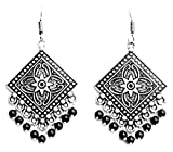 Sansar India Black Metal Dangle & Drop E...