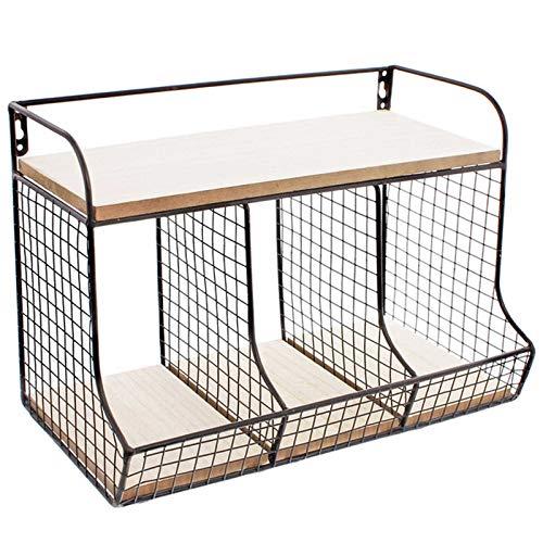 SIDCO Organzier Schwarz Wandregal Aufbewahrung Metall Schreibtisch Küche Bad Ordnung