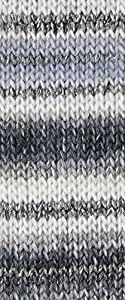 Katia broadway 50 g-couleur :  blanc-gris - 93 avec effets brillants