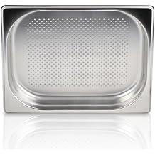 Greyfish GN Behälter :: gelocht :: für Gaggenau / Miele / Siemens Dampfgarer (Edelstahl / Spülmaschinentauglich, Gastronorm 1/2, B 32,5 x T 26,5 x H 4,0)