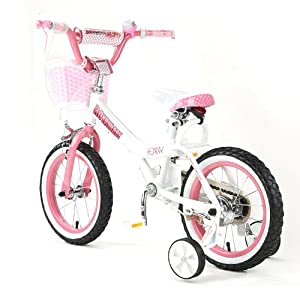 """BABY PRINCESS PINK GIRL'S BIKES IN SIZE 12"""" 14"""" 16"""" & 18""""+ Adjustable removable stabilisers+ front pink basket."""