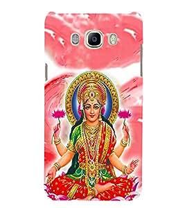 FUSON Hindu Goddess Lakshmi Lotus 3D Hard Polycarbonate Designer Back Case Cover for Samsung Galaxy J7 (6) 2016 :: Samsung Galaxy J7 2016 Duos :: Samsung Galaxy J7 2016 J710F J710Fn J710M J710H