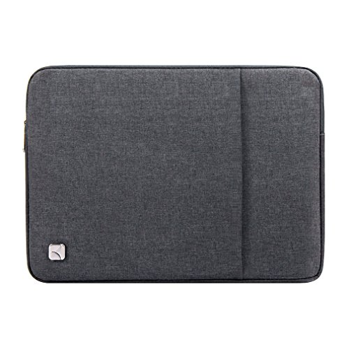 """Caison 12.5"""" Waterproof Laptop Notebook Sleeve Case Classic Bag Pouch Protective Skin Cover 12.9"""" Apple iPad Pro (Dark Grey)"""