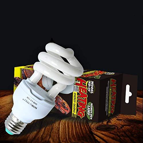 Ankamal Elec Reptilien Lampe, 13 W 5,0/10,0 UVB UV-Kalzium-Energiesparlampe für Pflanzen Tortoise Lizard Chameleon(Tropische Wüste 5.0) -