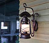 WLL Wandleuchte, American Village Walk antike Laterne alte Petroleumlampe E27 ridor Terrasse retro deation Lesen (Color #2)