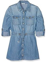 Pepe Jeans Jenna Jr, vestido Niños, Azul (Denim), 14 años