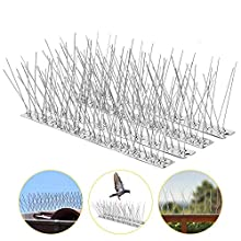 Kohree Pigeons, 14 Pack/15FT Spikes Anti Climb Security Wall Stainless Steel Bird Deterrent Repellent Fence