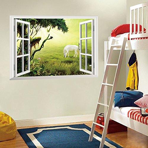 ufengker-3d-spezialeffekte-prarie-morgenrote-weisse-pferd-wandsticker-wohnzimmer-schlafzimmer-entfer