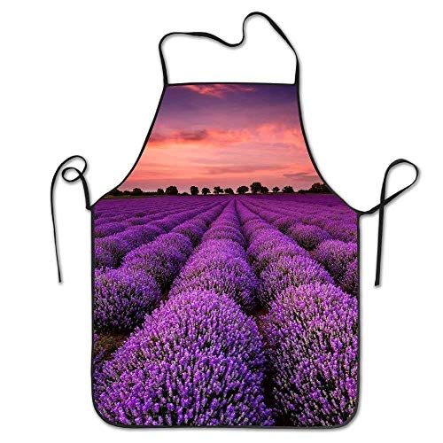 Kitchen Apron Lavender Funny Cooking Apron for Men Women - BBQ Grill Kitchen Chef Barbecue Gifts, One Size Fits Most