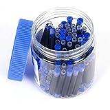 GOLD LEAF JINHAO International Standard Fountain Pen Ink Cartridges Refills bottled 80pcs (Blue)
