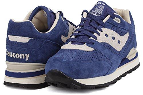 Sneaker Saucony Shadow Corageous in suede verde forata Blau