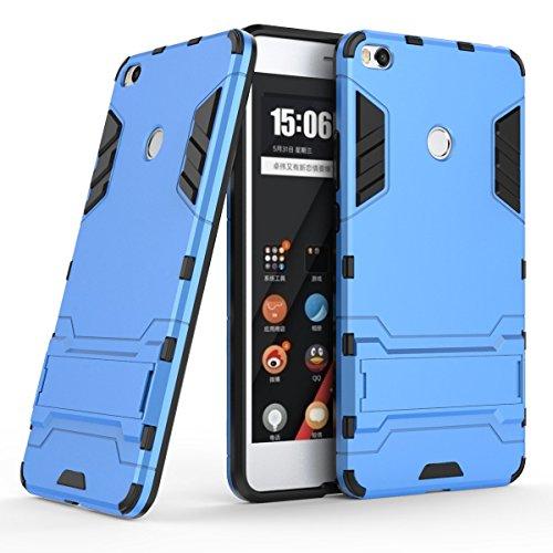XiaoMi Mi Max 2 Funda, SMTR Ultra Silm Híbrida Rugged Armor Case Choque Absorción Protección Dual Layer Bumper Carcasa con pata de Cabra para XiaoMi Mi Max 2 ,azul