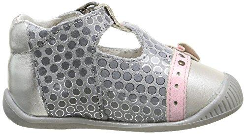 Babybotte Potiron, Chaussures Bébé marche bébé fille Gris (006 Pois Gris/Rose)