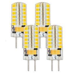 MENGS 4 Stück GY6.35 LED Lampen 4W LED Birnen Ersetzt 30W Halogenlampen 3000K Warmweiß 240lm Nicht Dimmbar, AC/DC 12V LED Leuchtmittel, GY6.35 LED Glühlampe