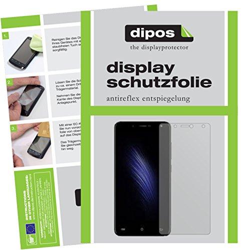 Cubot Hafury Mix 2017 Schutzfolie - 2x dipos Displayschutzfolie Folie matt